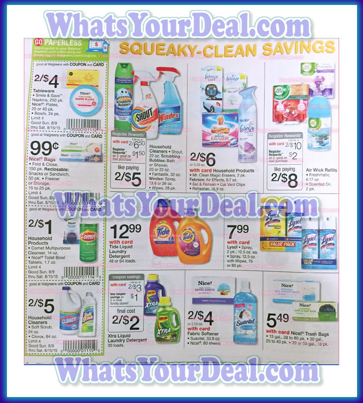 Walgreens Ad Scan August 9th 2015 - August 15th 2015