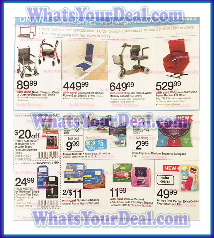 Walgreens Ad Scan August 23rd 2015 - August 29th 2015