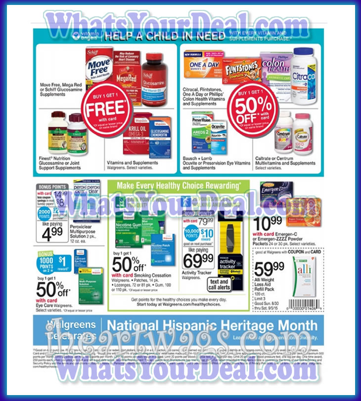 Walgreens Ad Scan August 30th 2015 - September 5th 2015